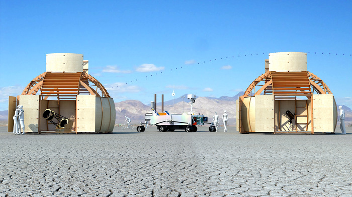 Black Rock Observatory and the Mars Rover Art Car at Burning Man