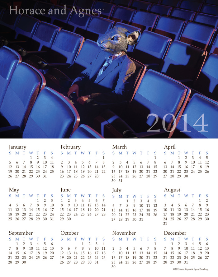 2015 Ferris Twig Calendar 13x19 ( Note the photo displays 2014 Version) ( Pledge $50.00 or more)