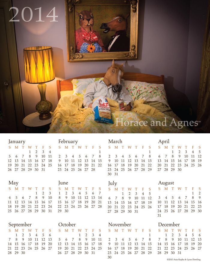 2015 Home Alone Calendar 13x19( Note the photo displays 2014 version) ( Pledge $50.00 or more)