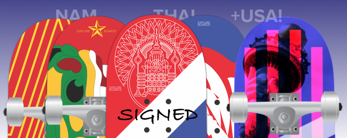 Signed skateboards (in varying sizes) will be signed by me and sent to your house!