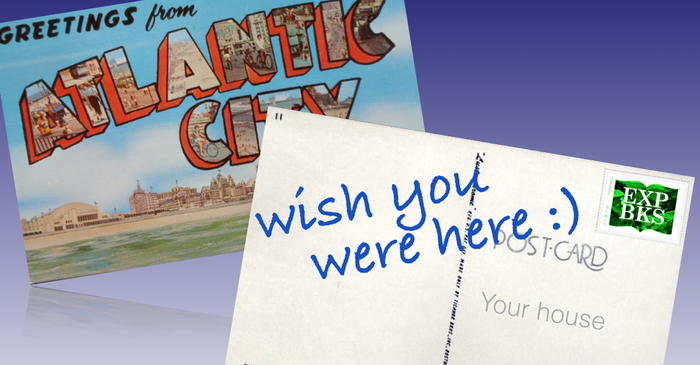 Postcards from random destinations on the trip plus exclusive Explore Books stamps, SWEET!