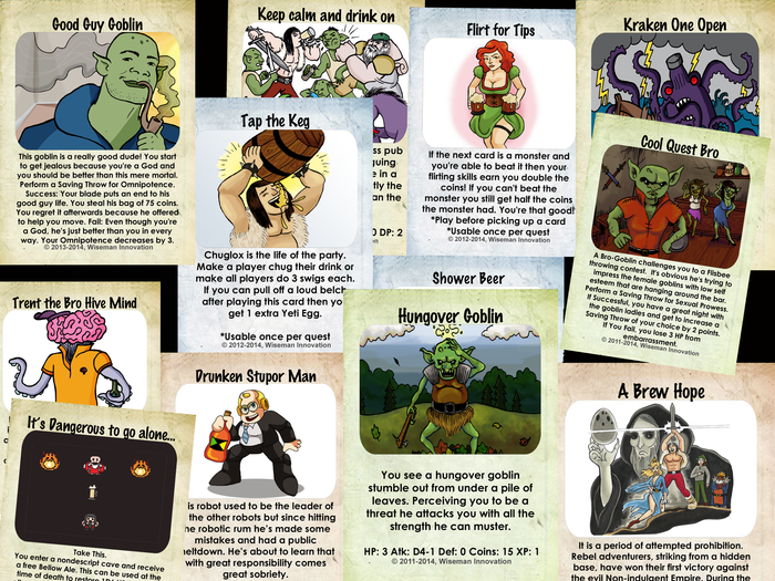 Some more sample cards (Final versions will have rounded corners and other improvements))