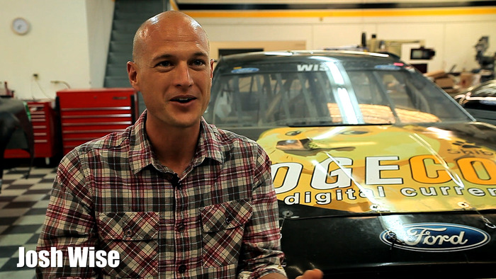 Josh Wise, NASCAR #98, with the Dogecar