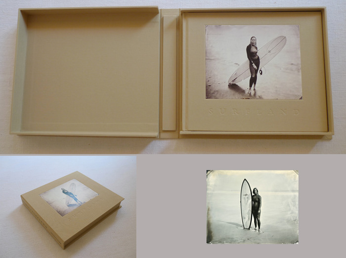 """Deluxe edition of Surfland with a unique 8x10"""" tintype in a clamshell box, image 08.02.12 #7 Marni"""