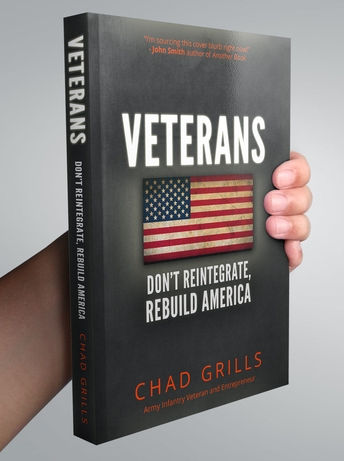 This is a mockup of the book you will receive (or can give to Veterans) when supporting this project!