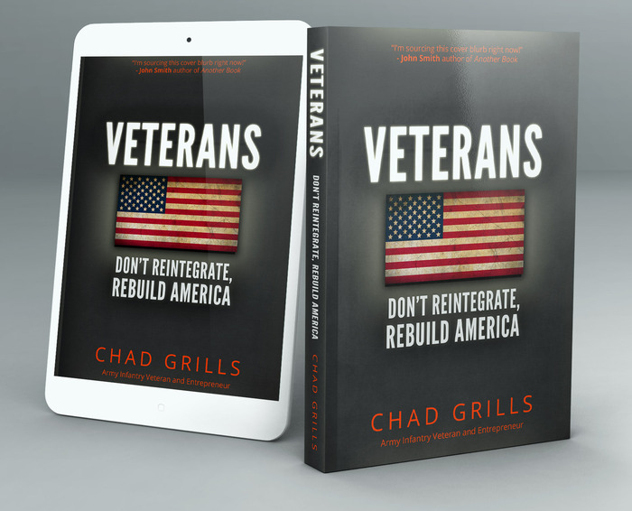 Another mockup of the book you receive (or can give to Veterans) by supporting this project (it is formatted for every device).
