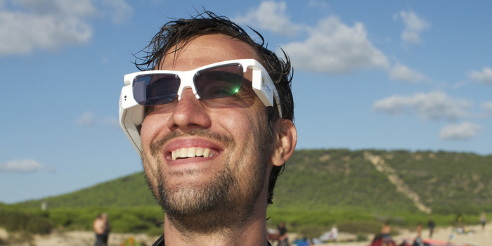 Andy and photochromic lenses in action !