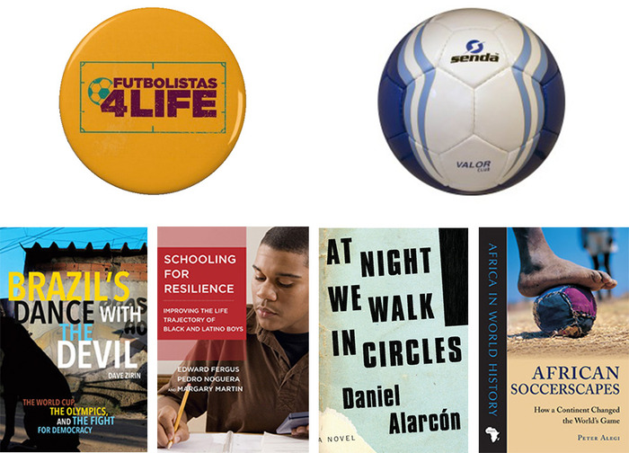 Some of the rewards include a FUTBOLISTAS 4 LIFE button, a fair trade soccer ball by Bay Area based Senda Athletics, and signed books by journalists, novelists and professors who support the film.