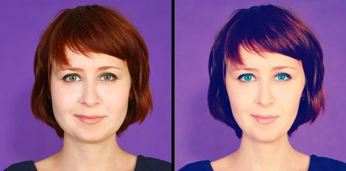 Aquamarine Eyes + Thinner Face + Smooth Skin