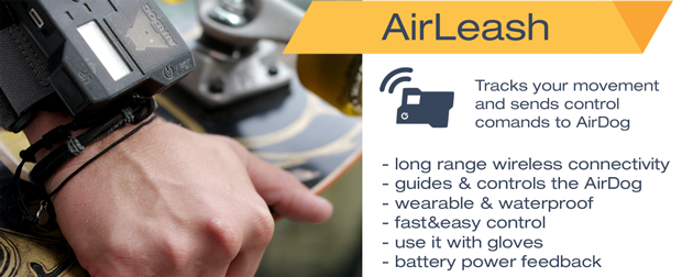 AirLeash shown in this picture is current working prototype. It is going to be two times smaller when we launch production.