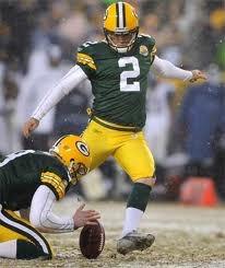 Green Bay Packers Kicker Mason Crosby
