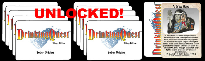 """Sober Origins features the heroes at the beginning of their adventures when they started """"Questing"""""""