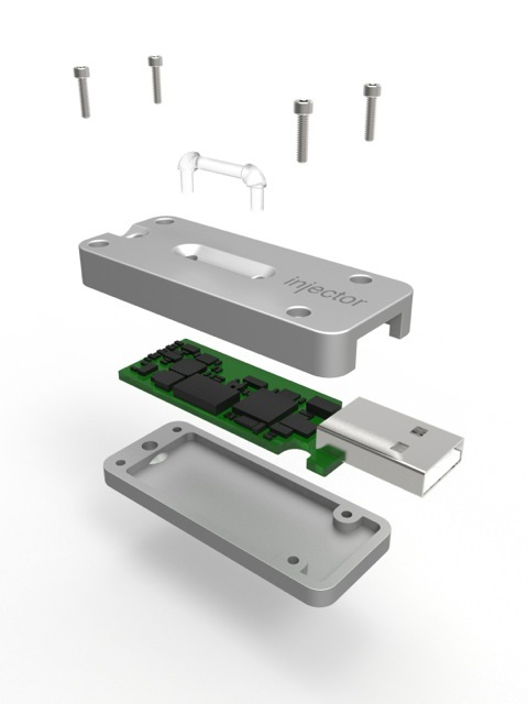 Rendering of the Injector Device components