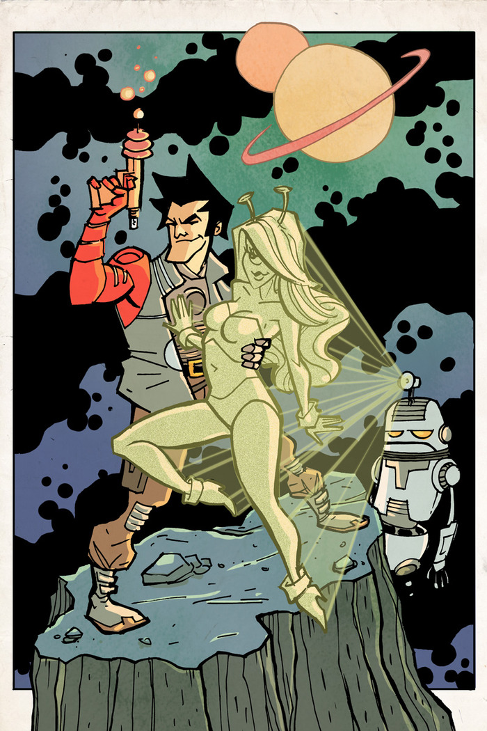 Android Jones Pin-Up by Nick Johnson