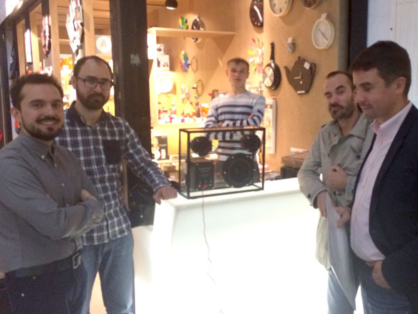 2nd person on the left is Anton from Senab Concept and then Andrey from Designboom on the far right