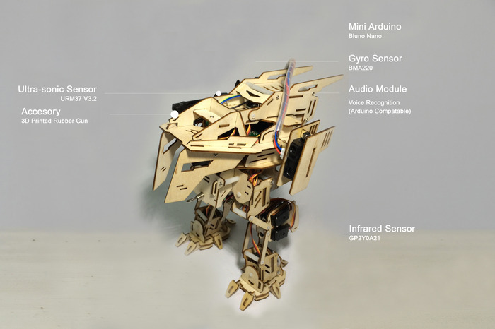 Ai.Frame Rex with Mounted Sensors
