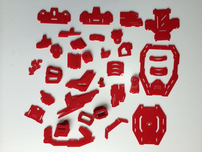 Rex laser cut full body parts