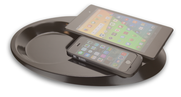 Pond Duo -  wireless charging valet tray for charging two devices