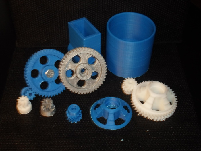 The Kossel-Mini is excellent at printing precision parts as well... such as gears and other mechanical parts