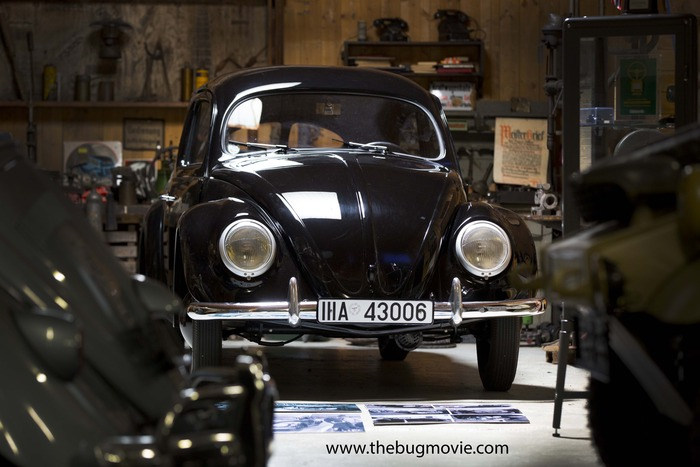 This is the oldest known beetle in the world, a 1938 hand-built prototype belonging to the Grundmann family in Germany.