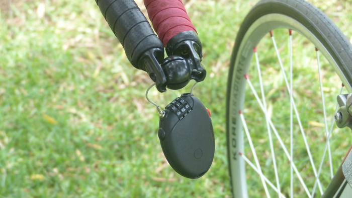 You can use a small lock When two bikes are connected- it won't stop a determined thief but it'll do for short stops
