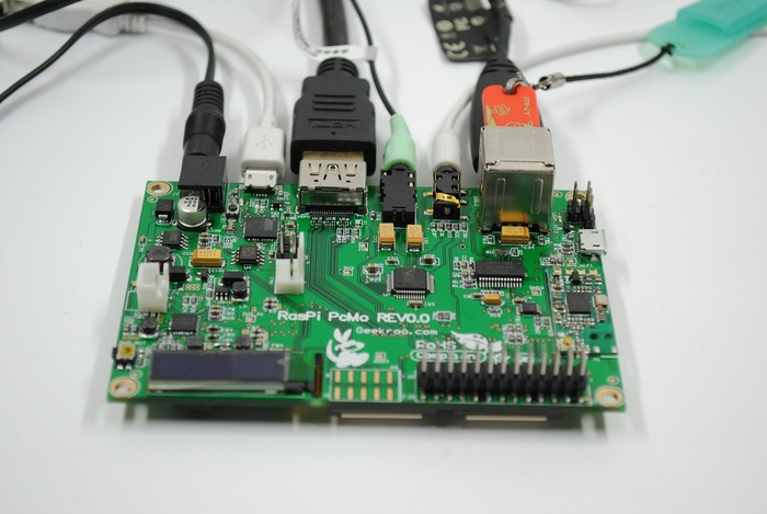 Connectors on one side of the device