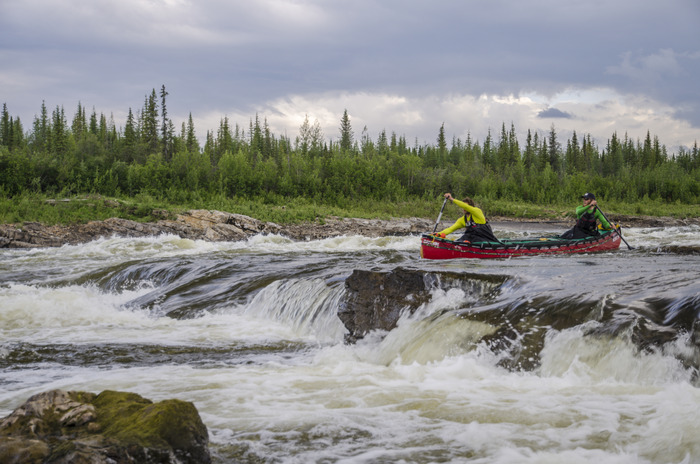 Running Rapids on the Peel River
