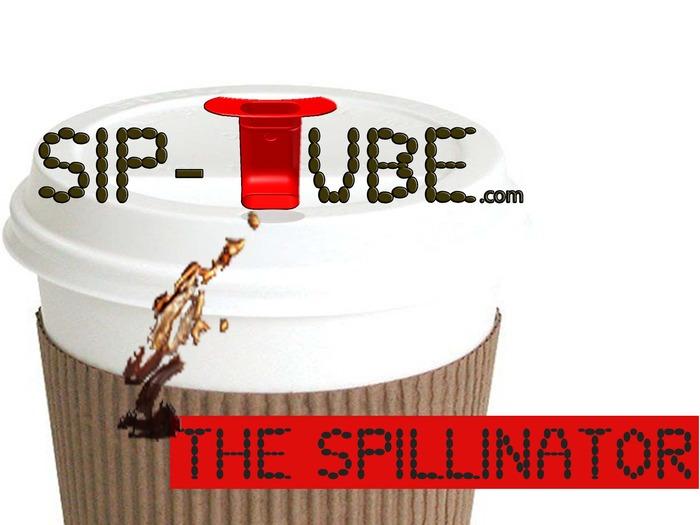 SpilliNator - from www.Sip-Tube.com  Splash-Free Drinking On The Go