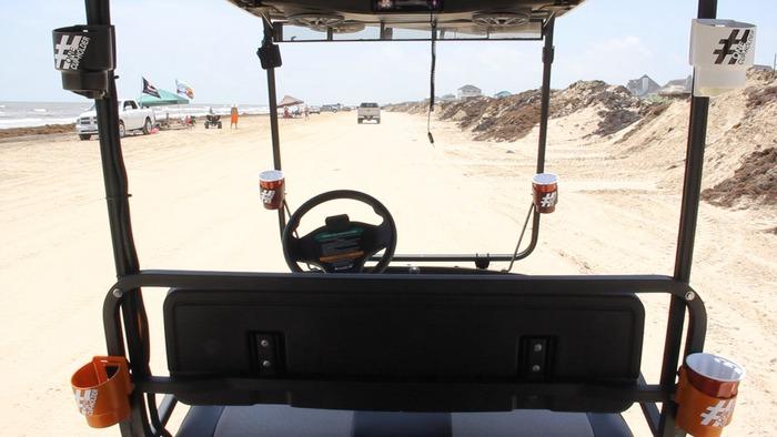 Strolling the beach or your neighbor hood on the golf cart
