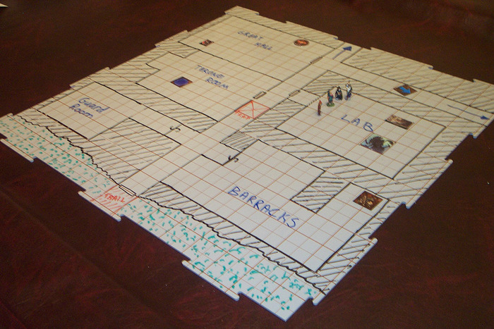 A small dungeon with just 4 tiles!