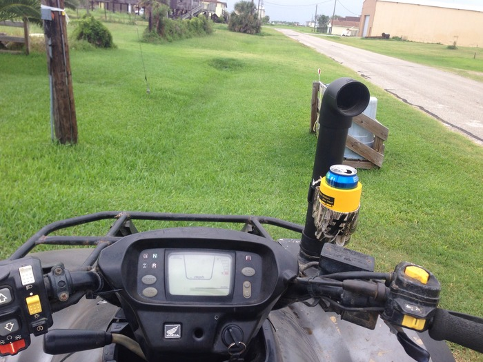 On your atv riding the trails