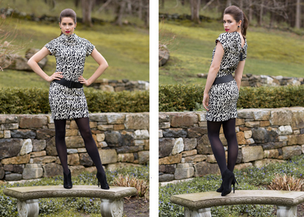 Betty in Novelty Leopard Jacquard