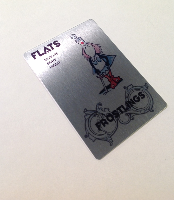Flats Metal Collectible Card