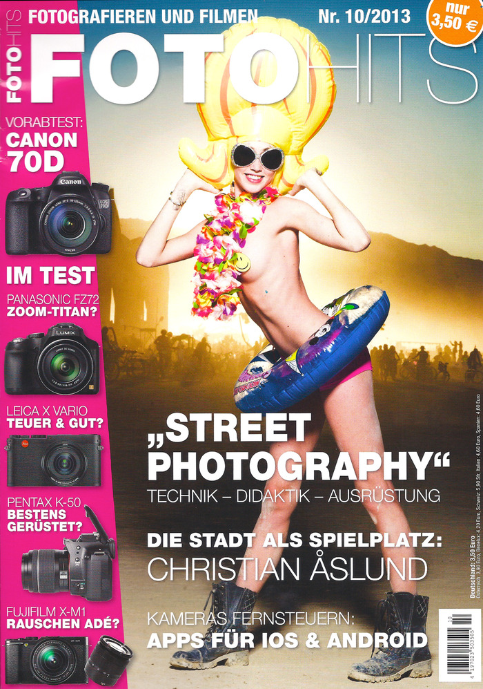 The Human Light Suit on the cover of FOTO HITS Germany