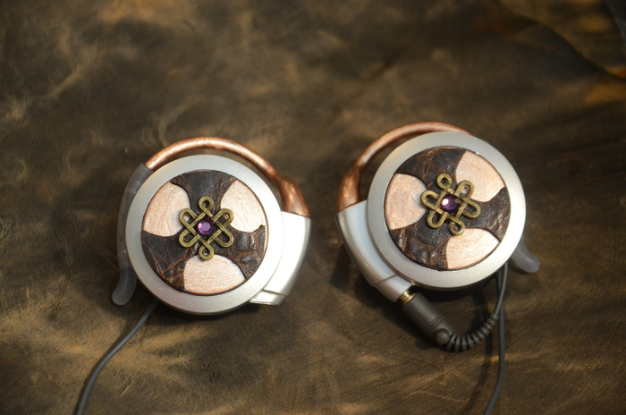 Steampunk Earphones - Copper