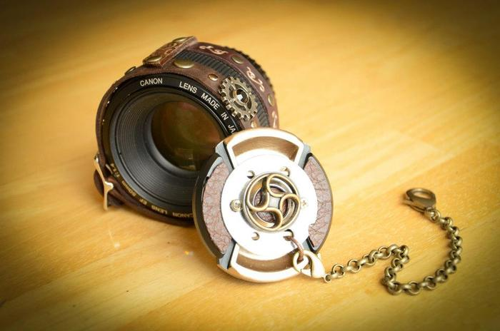 CameraPunk™ Lens Cap and Leather Cuff