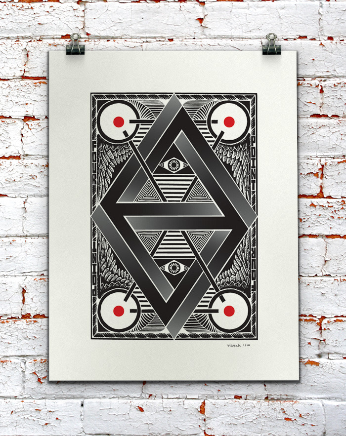 limited-edition print poster, 2-color screen, 18in x 24in