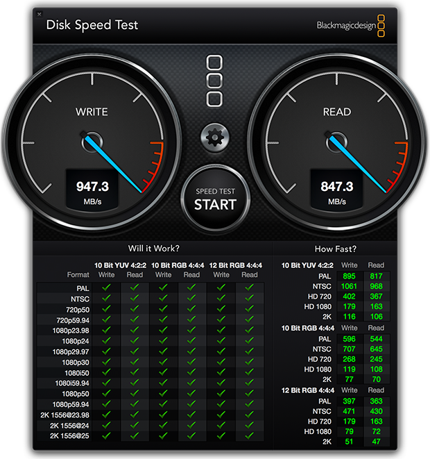 Test system: 2.6GHz Pro X prototype with 16GB of RAM, dual graphics, 1TB PCIe flash drive