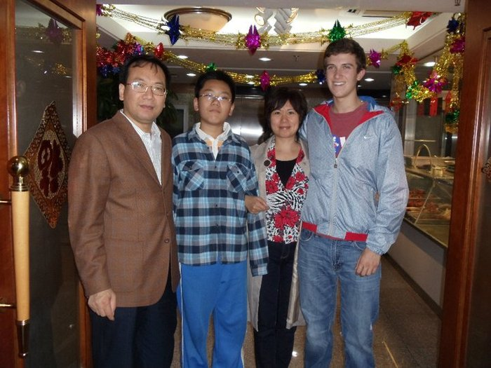 My host family and I in 2010