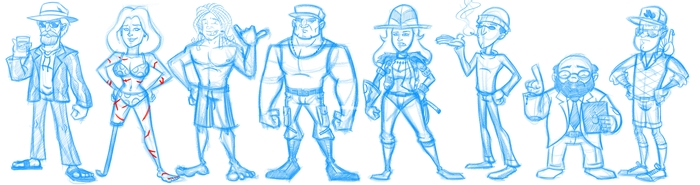 Character Designs by Junior Bruce