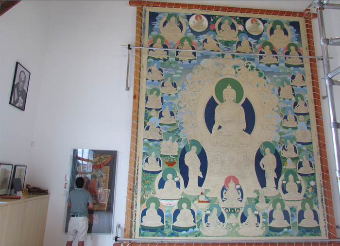 Tashi Dhargyal's two-story thangka