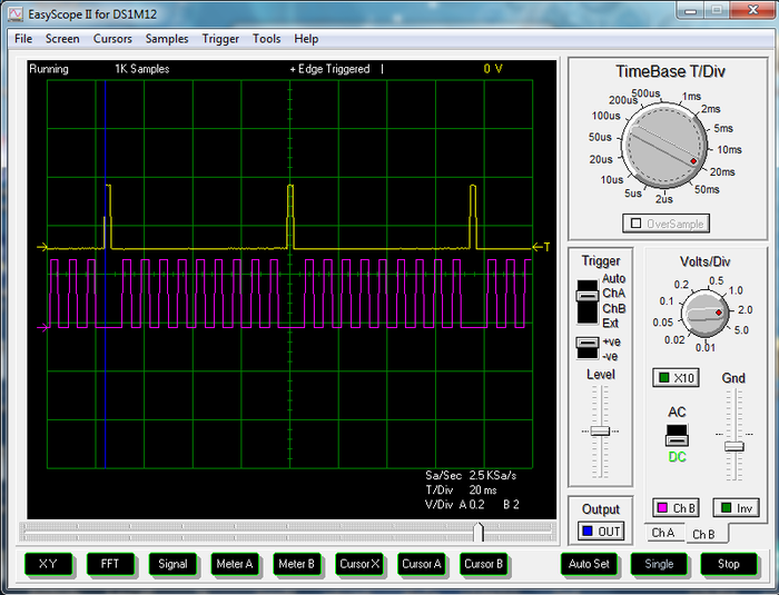 This pic above shows the indexing (yellow) and assigning waveforms (pink).