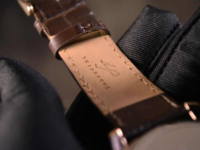 Genuine Leather Strap with TRIARROWS Logo