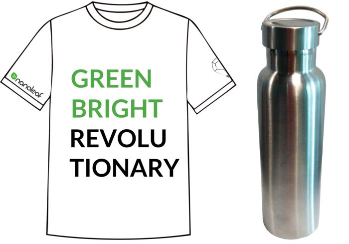 Nanoleaf T-shirt and Laser engraved high quality thermal water bottle
