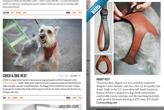 Great reviews from Uncrate.com and The Bark magazine :)