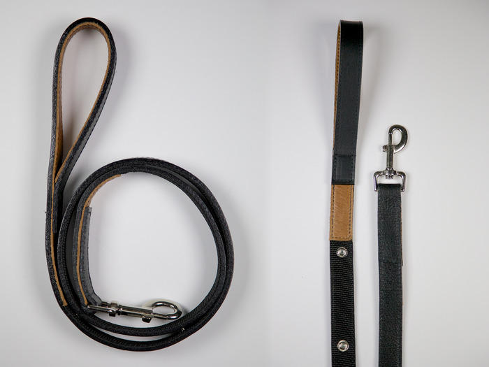 All leather leash.