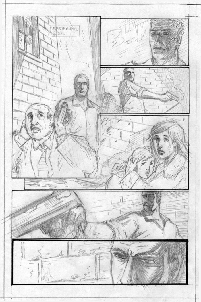 Dion's Original Pencil Sketch for CORDUROY ROAD, Page 1