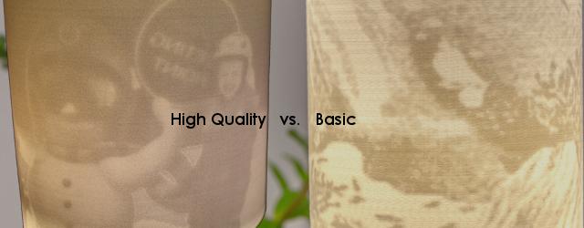 Manufacturing process comparison: High Quality vs. Basic