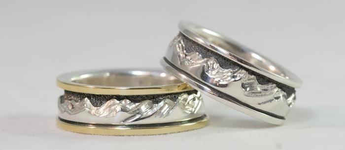 rings made by Dan Kline of a popular design by Ouray Silversmiths