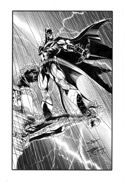 Batman commission by ChrisCross from the collection of Aric Shapiro